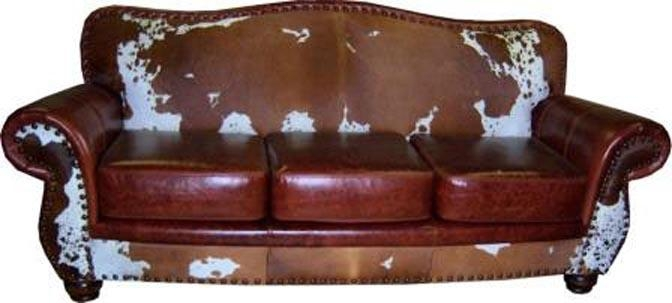 Exotic Sofas, Exotic Leather Couches, Texas Longhorn Sofas, Zebra Inside Cowhide Sofas (View 18 of 20)