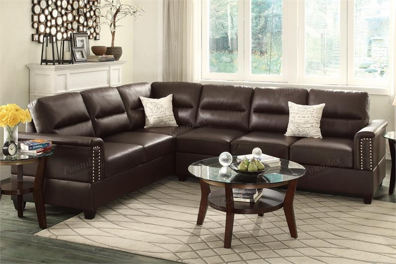 F7859 Poundex Olive 2 Piece Sectional Sofa Pertaining To Poundex Sofas (View 20 of 20)