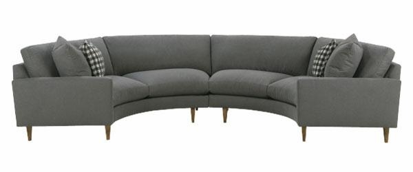 Fabric Upholstered Curved Semi Circle Sectional Sofa | Club Furniture In Semi Circular Sectional Sofas (Image 10 of 20)