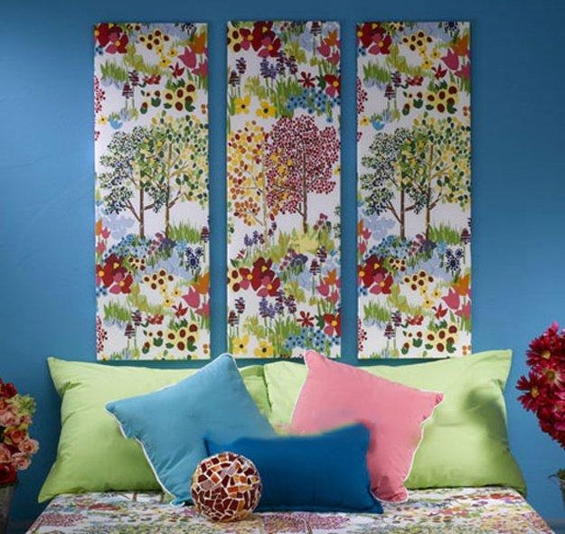 Fabric Wall Art Diy Projects Craft Ideas & How To's For Home Decor In Fabric Wall Art (Image 12 of 20)