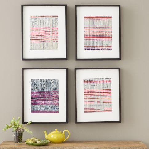 Fabric Wall Art – West Elm Inside Framed Fabric Wall Art (Image 13 of 20)
