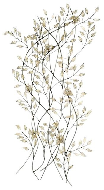 Falling Leaves Wall Decor – Contemporary – Metal Wall Art – With Cream Metal Wall Art (Image 10 of 20)