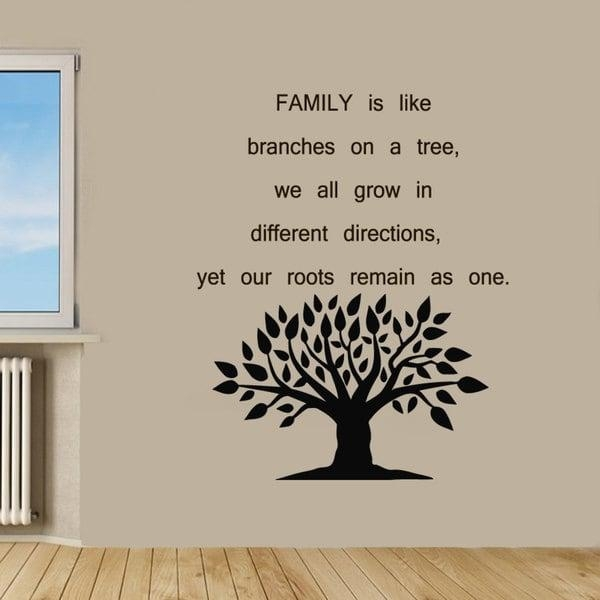 Family Tree Quote Sticker Vinyl Wall Art – Free Shipping On Orders Regarding Vinyl Wall Art Tree (View 20 of 20)