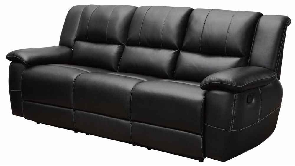 Fancy Black Leather Reclining Sofa Leather Reclining Sofa And Pertaining To Black Leather Sofas And Loveseats (Image 11 of 20)