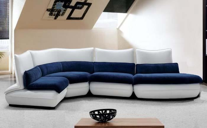 Fancy Blue And White Couch 11 For Sofas And Couches Ideas With Regarding Blue And White Sofas (View 3 of 20)