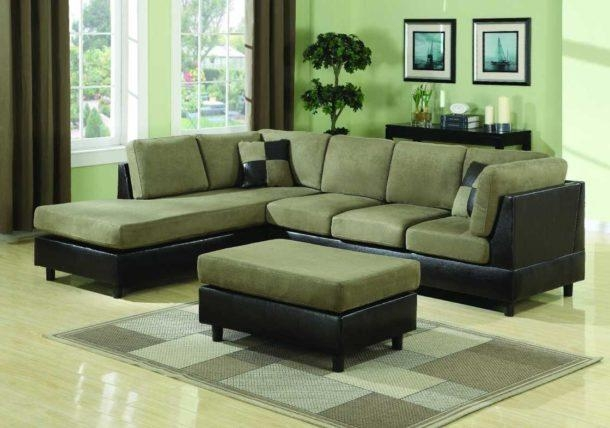 Fancy Green Leather Sectional Sofa Sofa Beds Design Remarkable With Regard To Green Leather Sectional Sofas (Image 11 of 20)