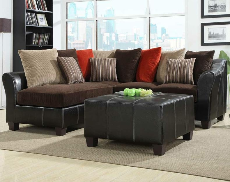 Fantastic Small Leather Sectional Sofas Homelegance Modern Small With Regard To Modern Small Sectional Sofas (View 11 of 20)
