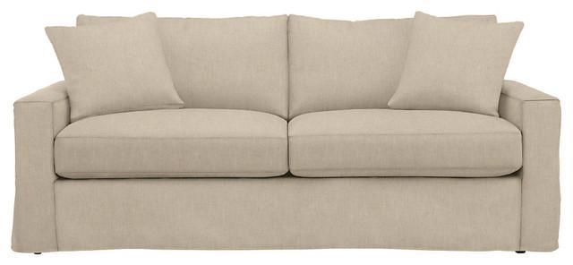 Fascinating Sleeper Sofa Slipcovers York Slipcovered Sleeper Linen Intended For Sleeper Sofa Slipcovers (Image 4 of 20)
