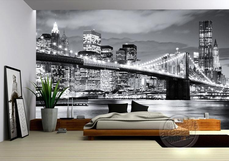 Fashion City Photo Wallpaper Brooklyn Bridge New York Designer For Brooklyn Bridge Wall Decals (Image 9 of 20)