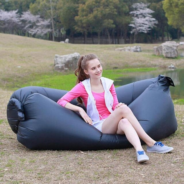 Fast Inflatable Camping Laybag Sofa Bed Portable Hangout Float In Camping Sofas (Image 13 of 20)