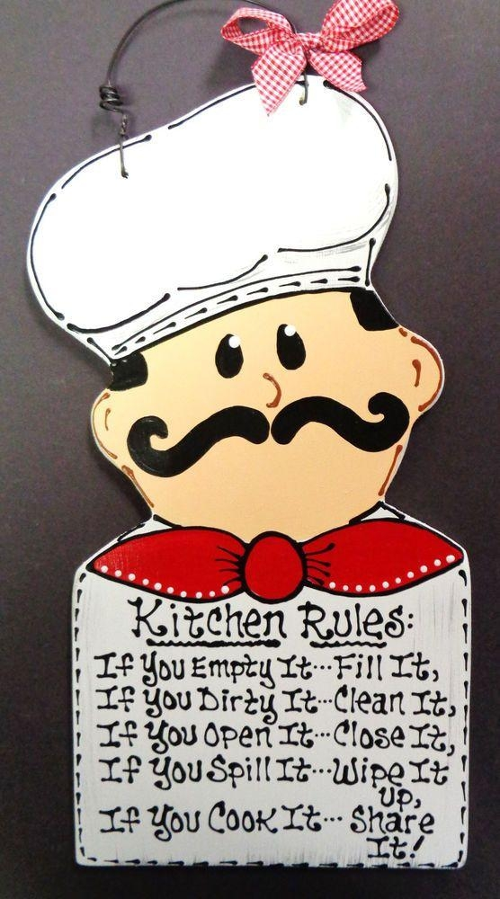 Fat Chef Personalize Name Kitchen Sign Wall Hanger Plaque Cucina Intended For Cucina Wall Art Decors (View 16 of 20)