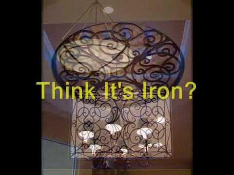 Faux Iron Interior Design Projects – Youtube Regarding Faux Wrought Iron Wall Art (Image 12 of 20)
