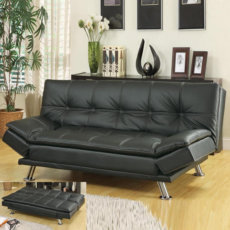 Faux Leather Futons | Roselawnlutheran With Faux Leather Futon Sofas (Image 18 of 20)