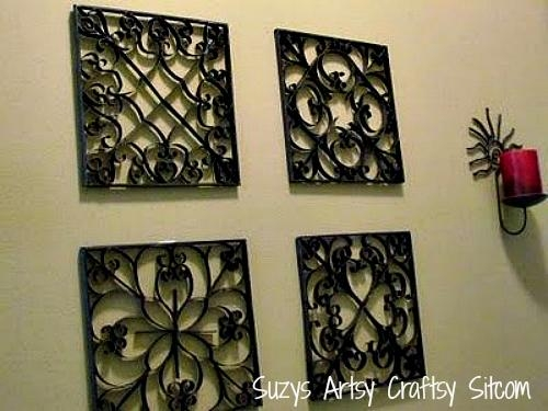 Faux Metal Wall Art (Including Free Patterns!) Throughout Faux Wrought Iron Wall Art (Image 15 of 20)