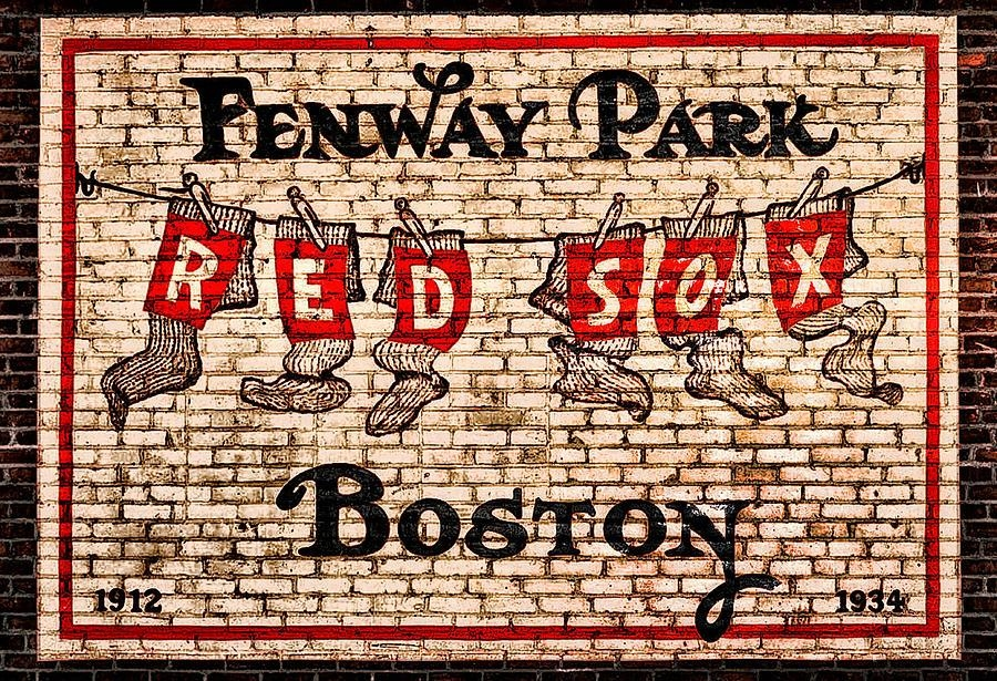 Fenway Park Boston Redsox Sign Photographbill Cannon In Red Sox Wall Art (Photo 5 of 20)