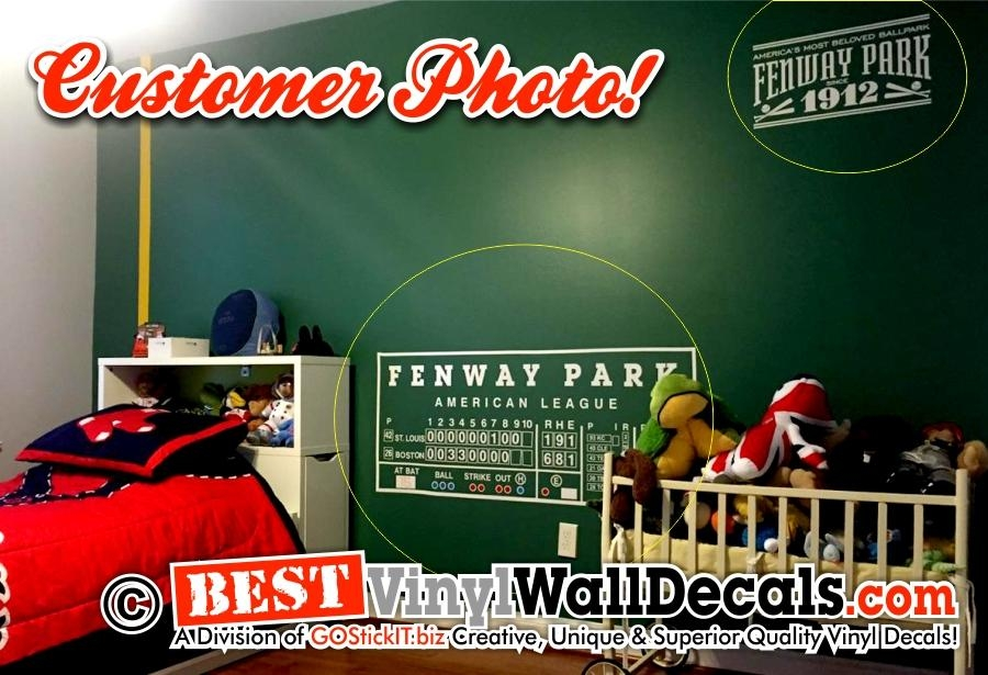 Fenway Park Scoreboard Green Monster – Bestvinylwallart Within Red Sox Wall Decals (View 3 of 20)