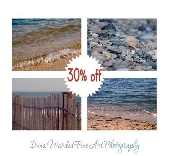 Fine Art Beach Photography Set Of 4 Prints | Coastal Wall Art Decor With Coastal Wall Art (Image 16 of 20)