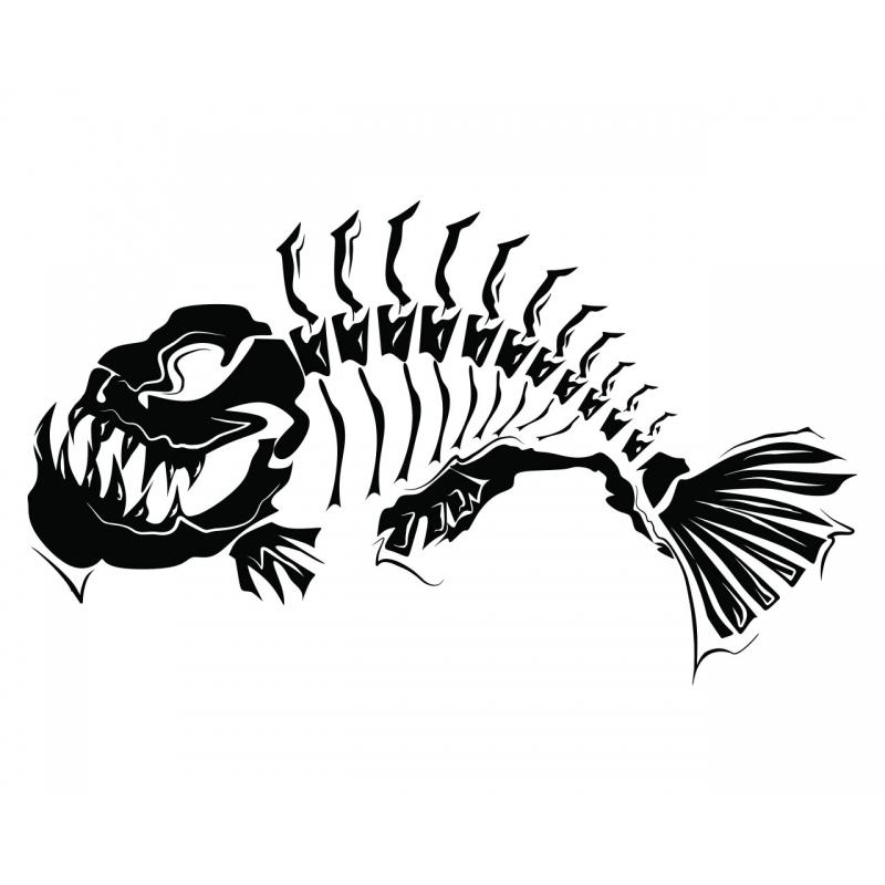 Fish Line Art | Free Download Clip Art | Free Clip Art | On Throughout Fish Bone Wall Art (Image 12 of 20)