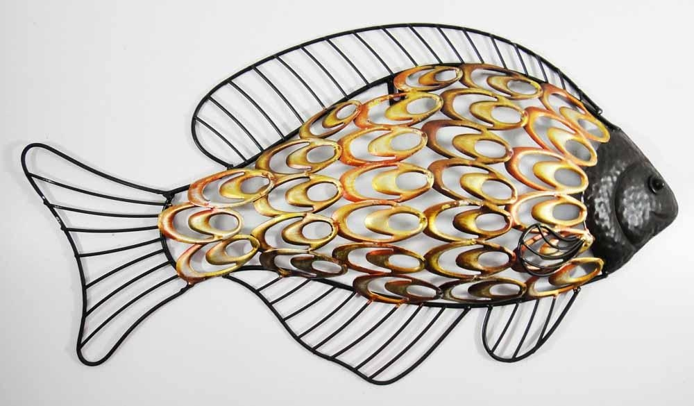 Fish Metal Wall Art Elegant Large Wall Art For Bathroom Wall Art In Metal Wall Art For Bathroom (Image 14 of 20)