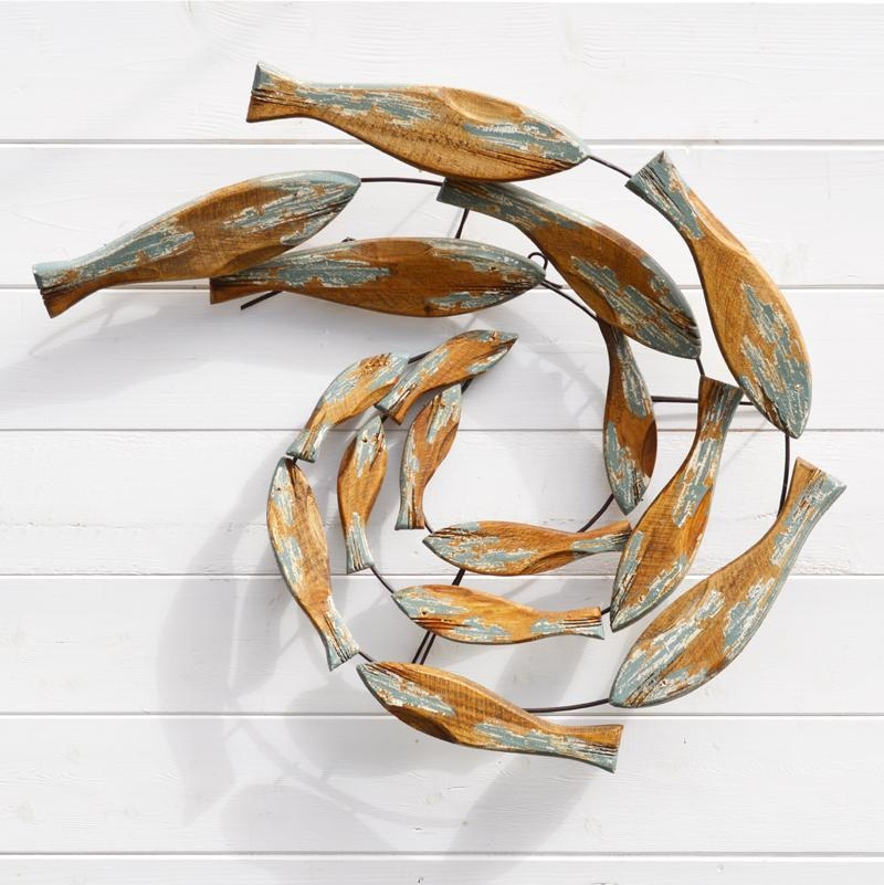Fish Swirl Wall Art – Wood – Coastalhome.co (View 12 of 20)