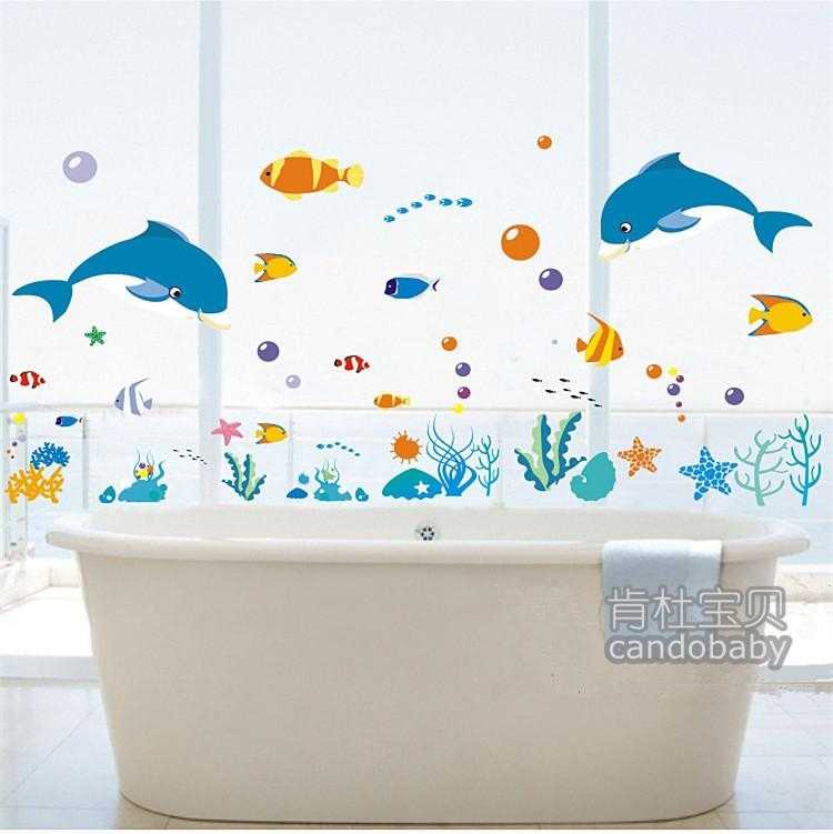 Fish Wall Decals For Bathroom ~ Color The Walls Of Your House With Regard To Fish Decals For Bathroom (View 9 of 20)