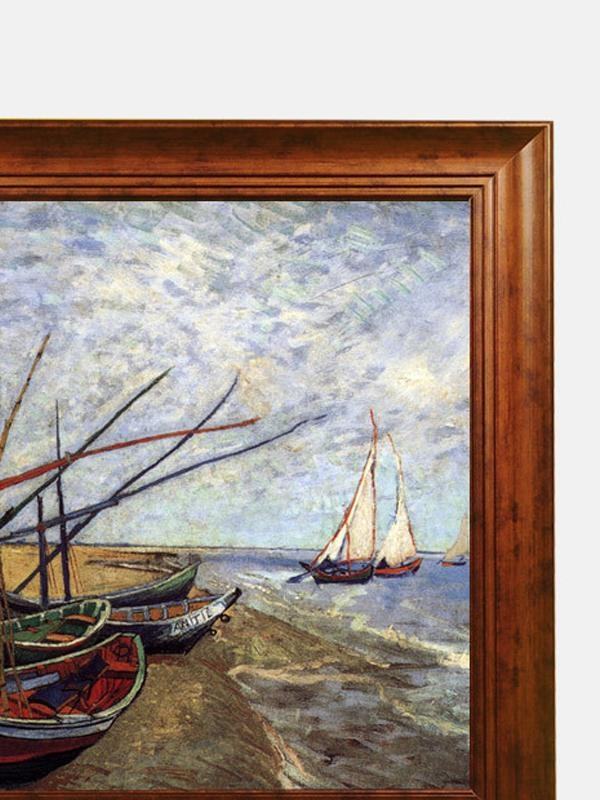 Fishing Boat Van Gogh Wall Art With Frame 11966 3 Intended For Boat Wall Art (View 6 of 20)