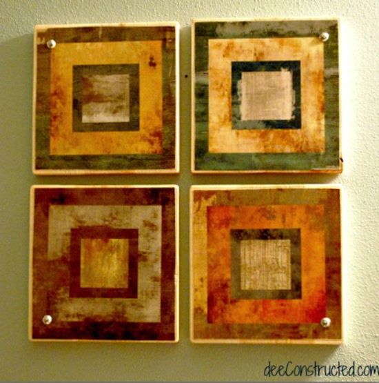Five Dollar Decoupage Wall Art – Mod Podge Rocks Pertaining To Decoupage Wall Art (Image 13 of 20)