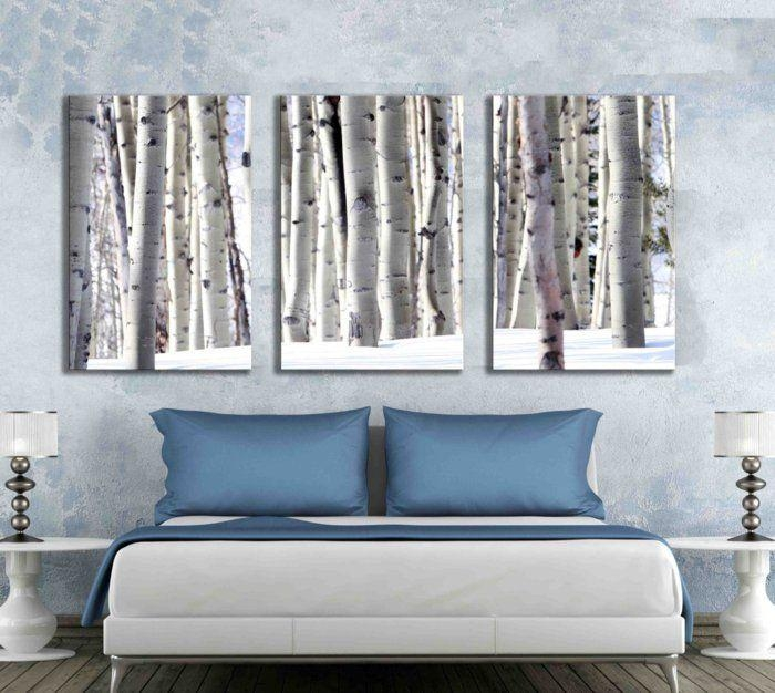 Five Multi Panel 10X20 Inch Canvas Print Black And White Aspen Within Aspen Tree Wall Art (View 13 of 20)