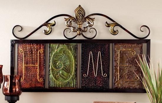 Fleur De Lis Home Metal Wall Plaque Art Will Bring Nature Close To Throughout Fleur De Lis Metal Wall Art (Image 13 of 20)