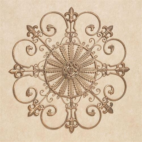 Fleur De Lis Metal Wall Grille With Regard To Fleur De Lis Metal Wall Art (Image 10 of 20)
