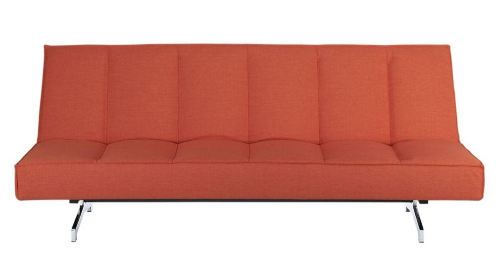Flex Orange Sleeper Sofa | Cb2 In Crate And Barrel Futon Sofas (Image 10 of 20)