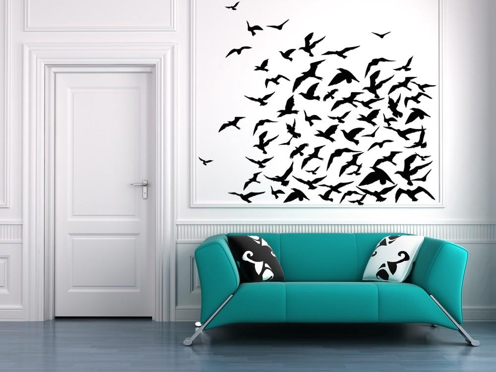 Flock Of Birds Bird Decal Bird Decor Seagulls Pigeons With Regard To Flock Of Birds Wall Art (Image 9 of 20)