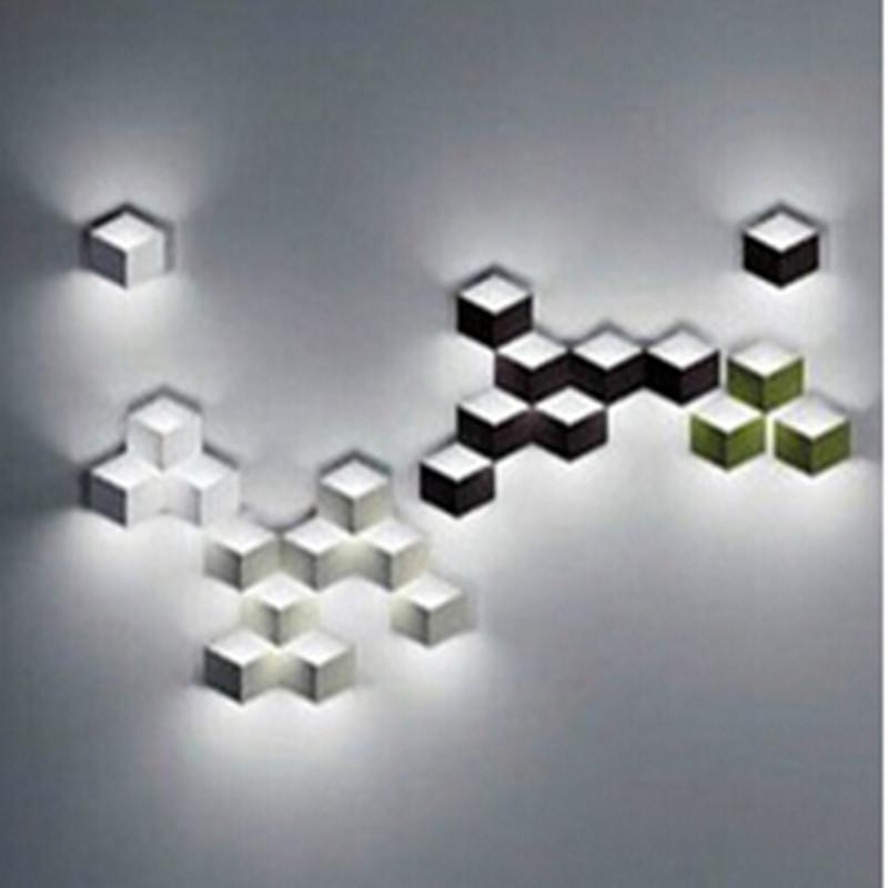 Flod Magic Led Wall Light Aluminum Stereo Rhombus Ice Cube 3D Wall For Wall Art Lighting (Image 7 of 20)