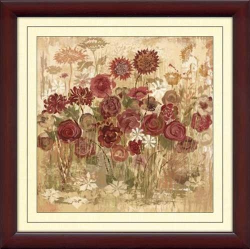 Floral Frenzy Burgundy Vi – Framed Canvas Art With Regard To Burgundy Wall Art (Image 15 of 20)