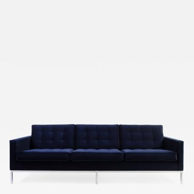 Florence Knoll – Florence Knoll Sofa In Navy Velvet Throughout Florence Knoll Sofas (View 17 of 20)