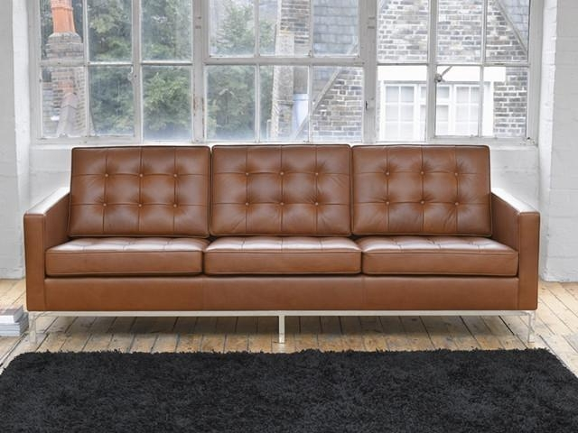Florence Knoll Sofa 3 Seater|Florence Knoll Lounge Sofa|Replica Throughout Florence Knoll Sofas (View 16 of 20)
