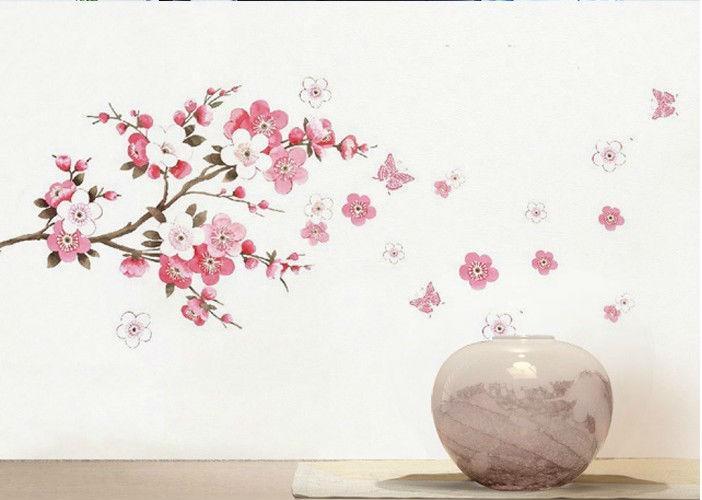 Flower Butterfly Wall Art | Wallartideas Inside Pink Butterfly Wall Art (Image 15 of 20)
