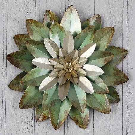 Flower Metal Wall Art | Wall Shelves Design Ideas Within Purple Flower Metal Wall Art (Image 9 of 20)