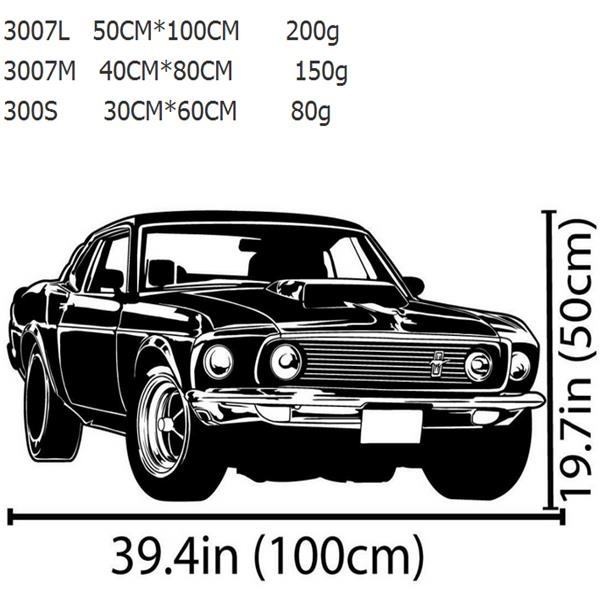 Ford Mustang Racing Car Wall Sticker Living Room Home Decoration For Classic Car Wall Art (Image 10 of 20)