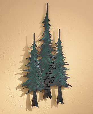 Forest Pine Trees; Metal Wall Art | Wild Wings With Regard To Pine Tree Wall Art (Image 9 of 20)