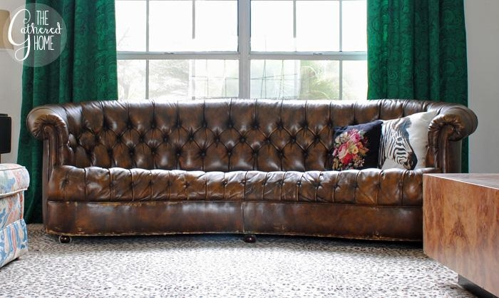 Found: Vintage Leather Chesterfield (Couch Floozy Edition) – The For Craigslist Chesterfield Sofas (Image 9 of 20)