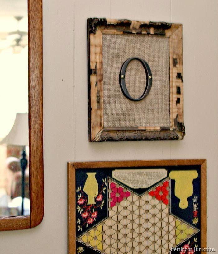 Framed Burlap Monogram Wall Art – Domestically Speaking In Framed Monogram Wall Art (View 2 of 20)