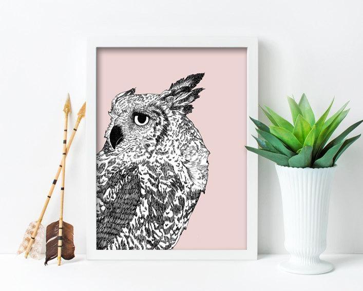 Framed Wall Art, Framed Art Prints, Large Framed Art, Large Framed With Owl Framed Wall Art (Image 9 of 20)