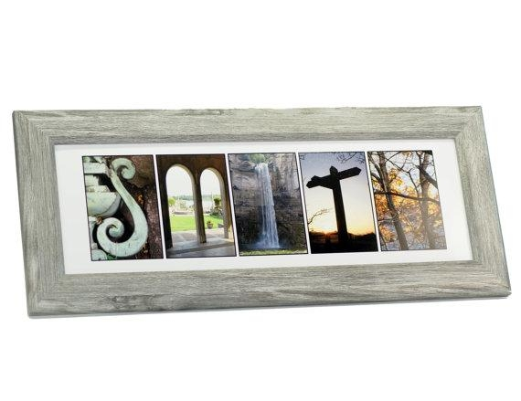Framed Wedding Sign Last Name Picture Frame With 4 10 In Last Name Framed Wall Art (Image 9 of 20)