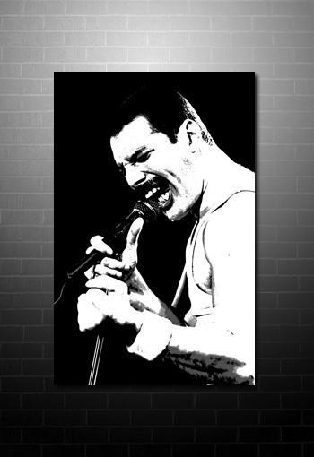 Freddie Mercury Canvas Art In Freddie Mercury Wall Art (Image 5 of 20)