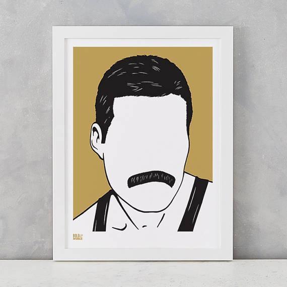 Freddie Mercury Screen Print Freddie Mercury Wall Art Intended For Freddie Mercury Wall Art (Image 11 of 20)