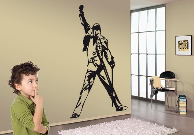 Freddie Wall Sticker – Wall Art Pertaining To Freddie Mercury Wall Art (Image 14 of 20)