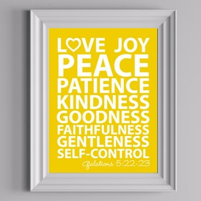 Free Fruit Of The Spirit Wall Art Printable | The Diy Mommy Throughout Fruit Of The Spirit Wall Art (Image 11 of 20)