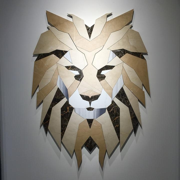 Free Photo: Lion, Design, Creative, Wall, Art – Free Image On Pertaining To Lion Wall Art (Image 9 of 20)