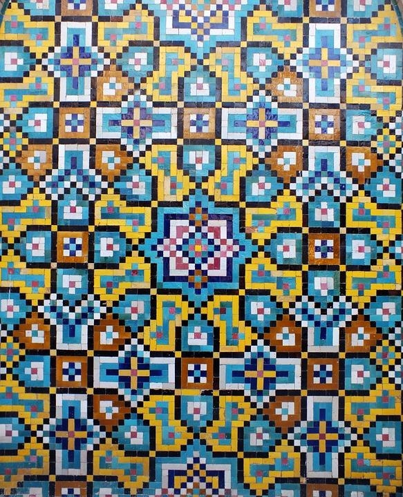 Free Photo Wall Art Mosaic Iran Kashi Islamicart Art Islamic – Max In Pixel Mosaic Wall Art (Image 9 of 20)
